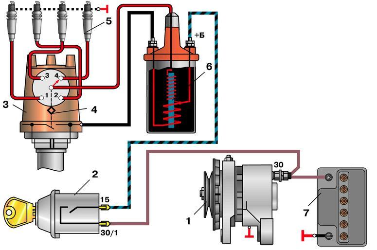 Схема подключения проводов к катушке зажигания6