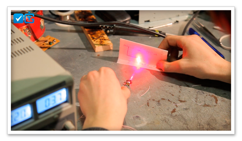 Как сделать лазер на фото 467