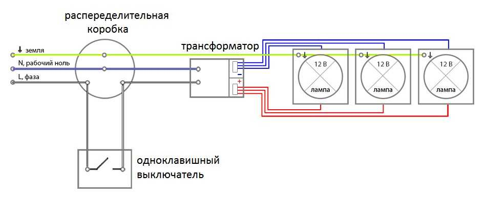 схема подключения освещения бани 12 вольт на оценить