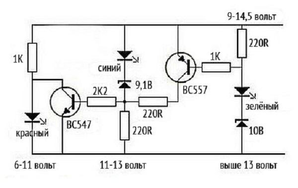 Контроль разряда аккумулятора своими руками 69