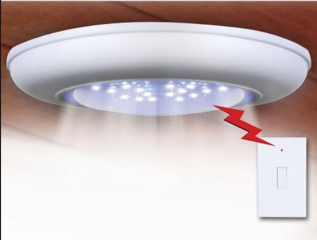 Draadloze lamp op batterij. Draadloze led-lampjes: beschrijving