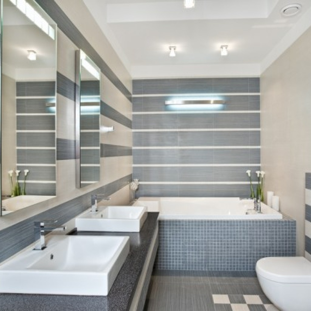 Finishing the bathroom with plastic panels 5